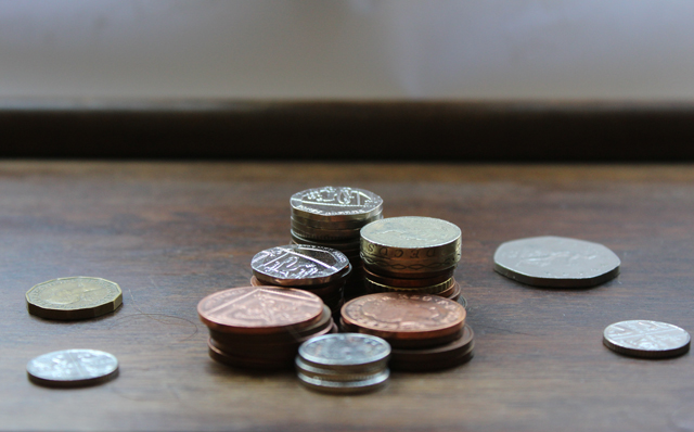 coins on desk